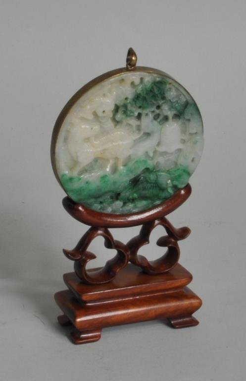 Jadeite Pendant on Stand