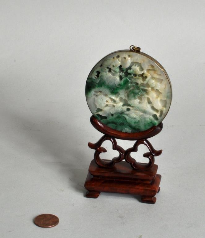 Jadeite Pendant on Stand - 2
