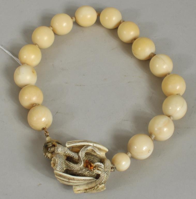Japanese Carved Ivory Necklace