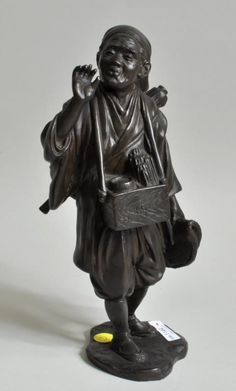 """Japanese School, """"Merchant"""" Bronze"""