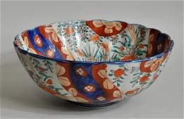 Japanese Imari Style Scalloped Bowl