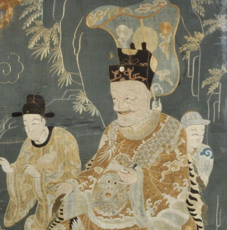 Important Chinese Framed Embroidered Panel - 3