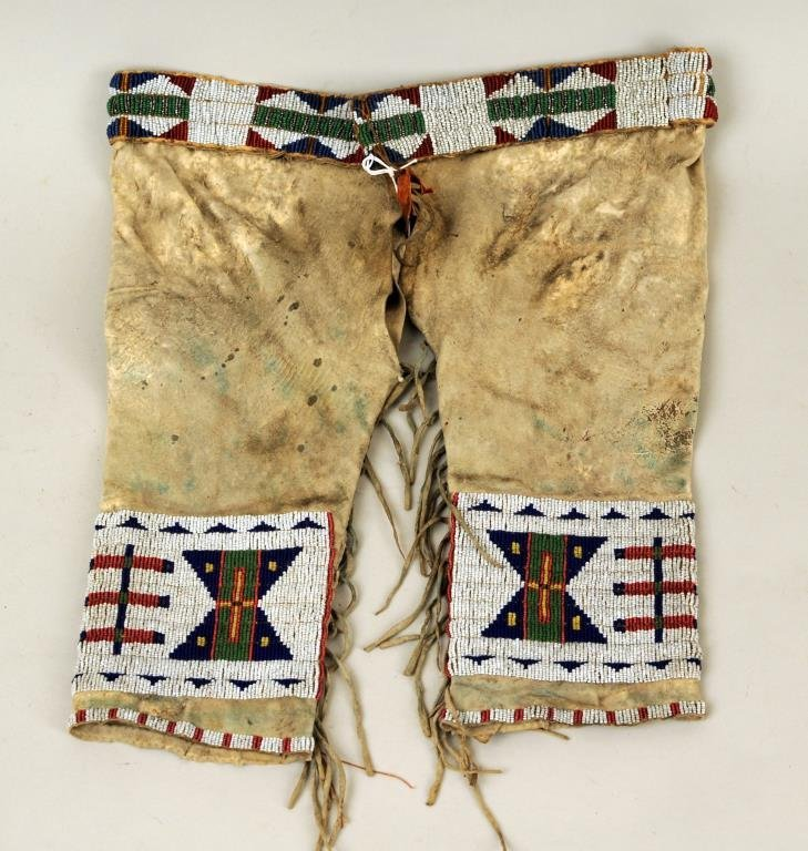 Sioux Boy's Beaded Hide Trousers
