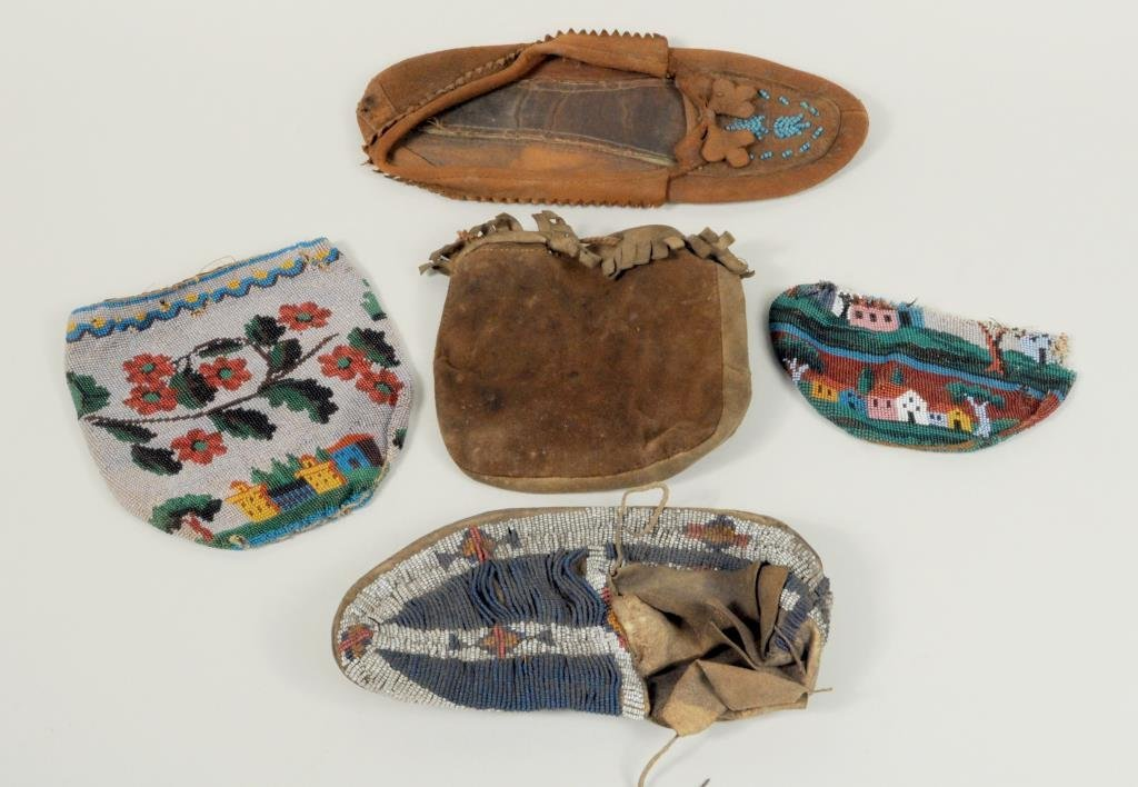 A Single Sioux Woman's or Youth's Beaded Moccasin