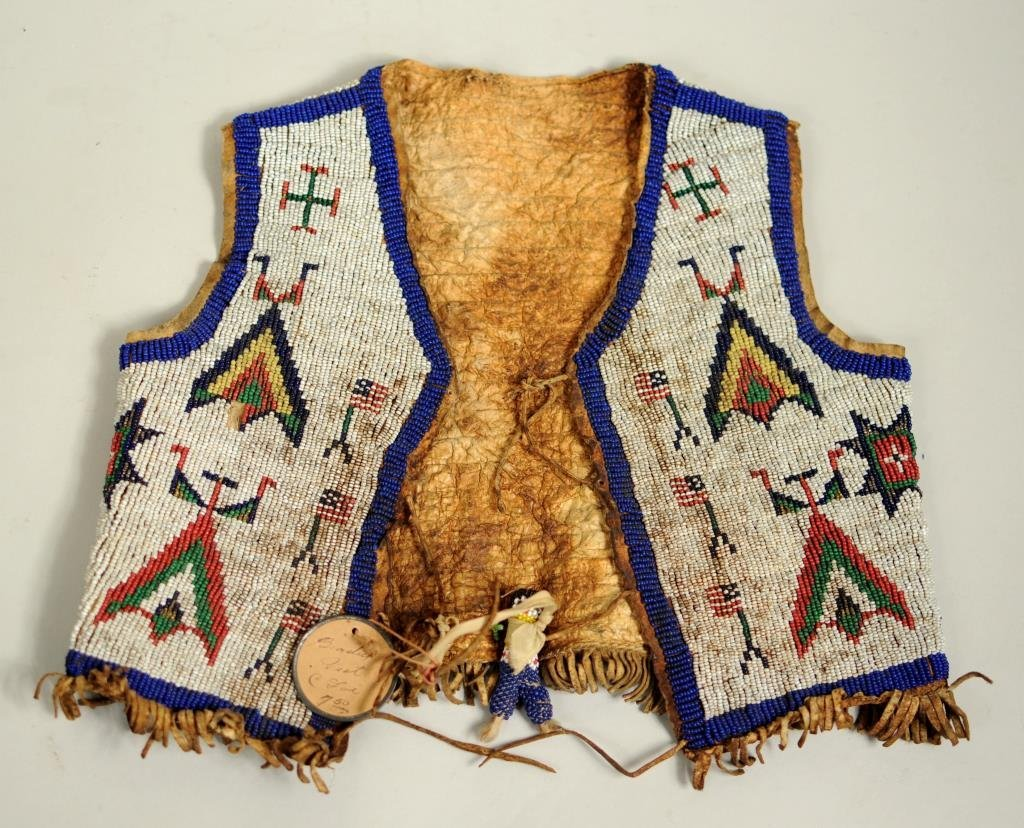 Sioux Child's Beaded Hide Vest