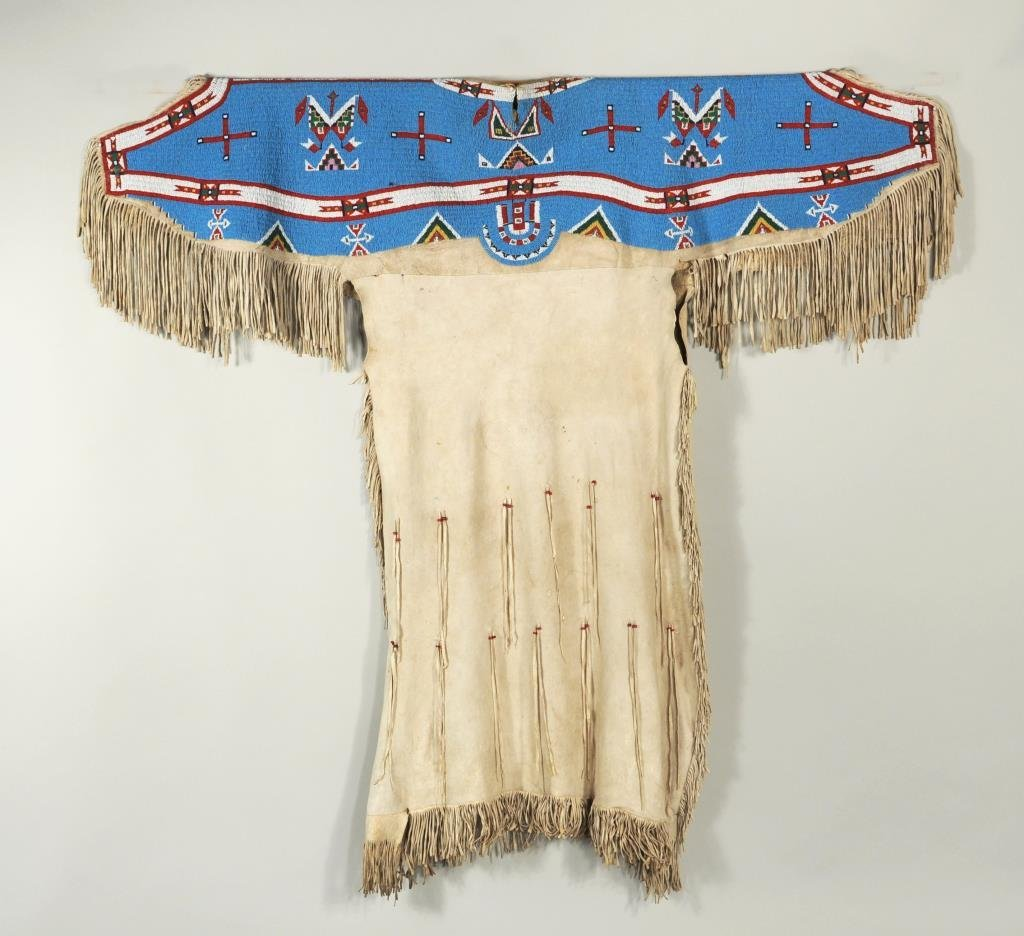 Sioux Woman's Beaded Hide Dress