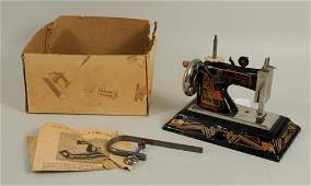 """Small German """"Casige"""" Sewing Machine"""