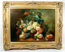 Dutch Old Master Style Simulated O/C Floral