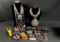 Group Ethnic  Costume Jewelry Items