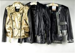 Five Leather Items by Lim Moschino  Ferre