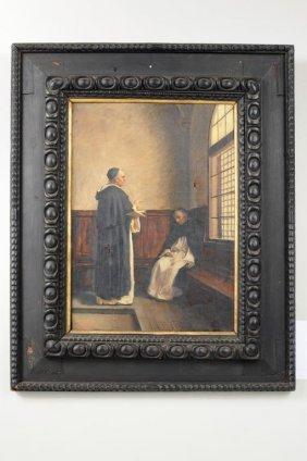"Horace DuChene DeVere ""Monks In An Interior"" O/C"