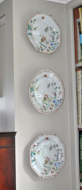 Group Three Chinese Export Porcelain Plates