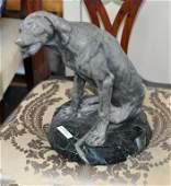French Spelter Sculpture of Hound