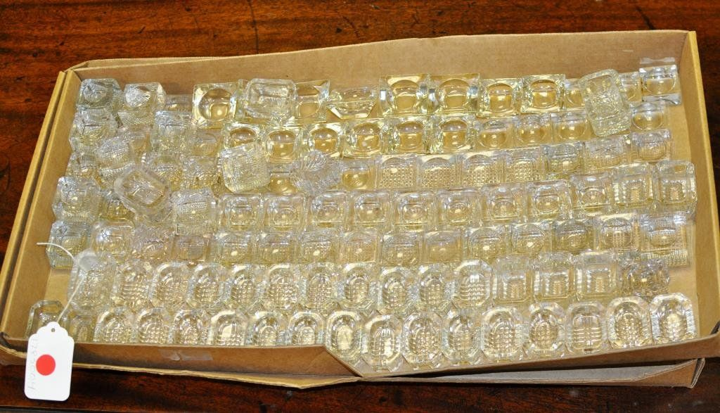 Misc. Collection Cut, Molded Clear Glass Salts