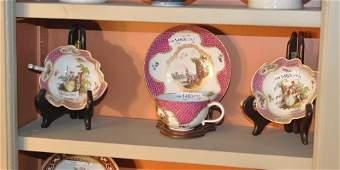 Four Continental (Meissen) Porcelain Items