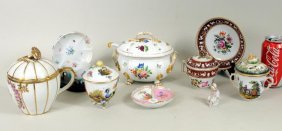 Group Ten Early Continental Porcelain Items