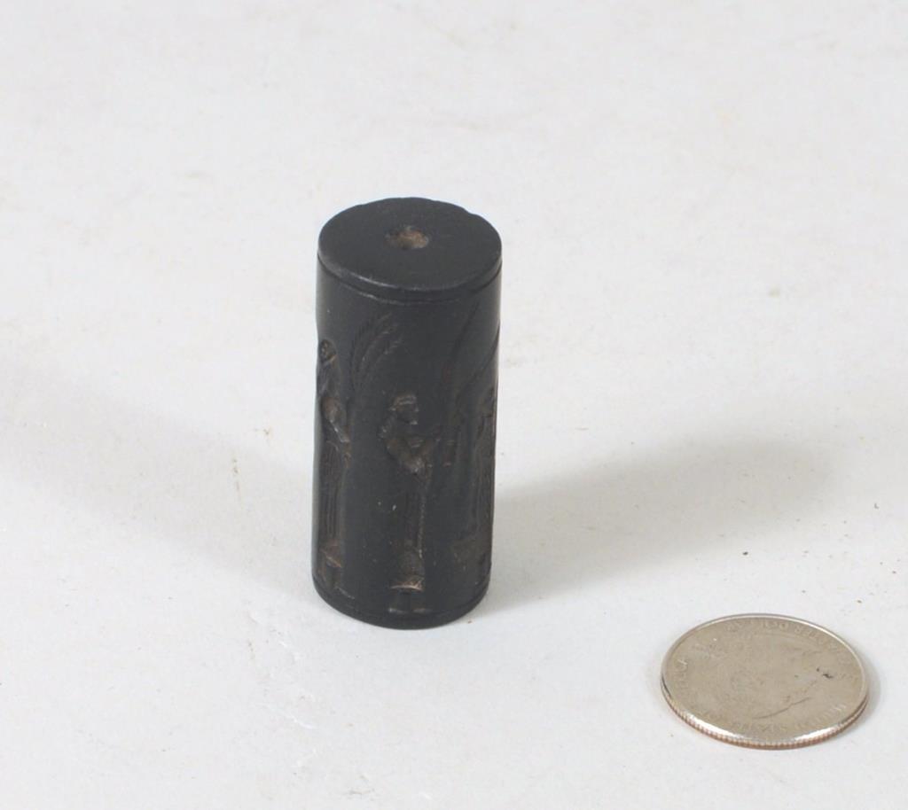 Assyrian Hardstone Cylinder Seal