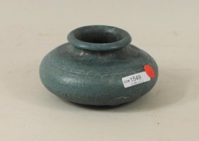 Attr. To Grueby Pottery Squat Bulbous Vase