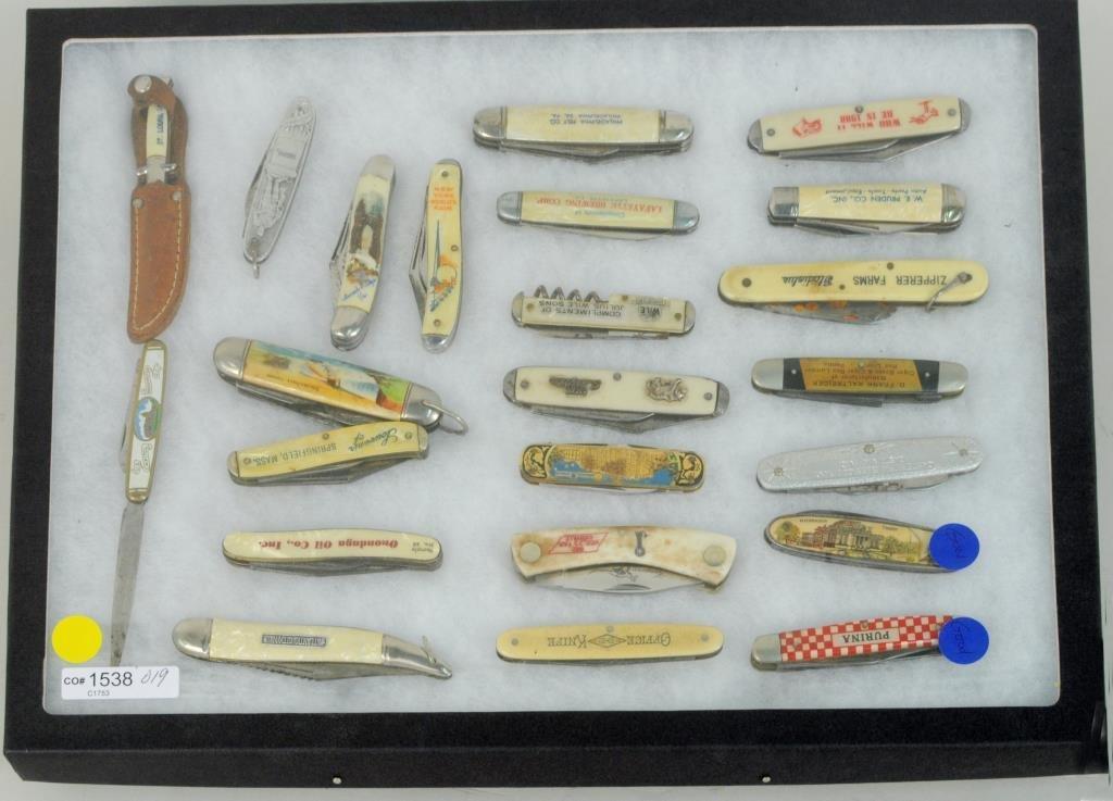 Group Vintage Advertising Pocket Knives