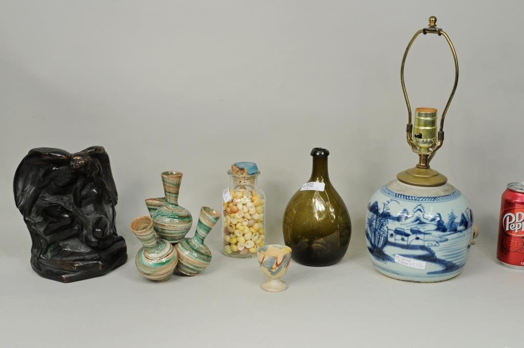 Group Six Porcelain, Glass & Other Items