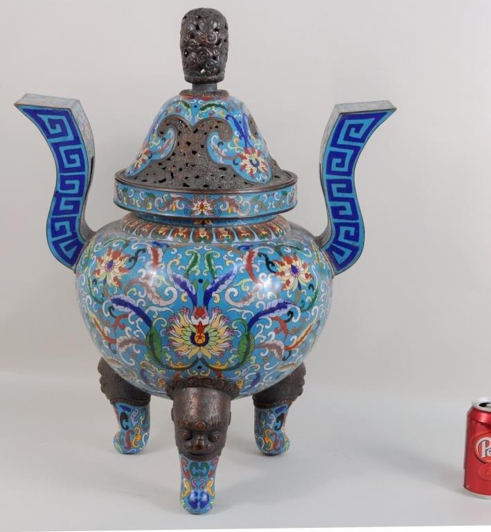 Monumental Chinese Cloisonne Censer