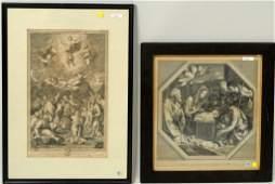 Two Engravings Biblical Scenes