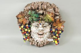 Eugenio Pattarino Style Italian Ceramic Mask
