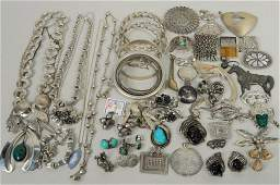Group Sterling Silver Jewelry Items