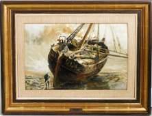 Friedrich Ernst Morgenstern, Ship Scene O/B