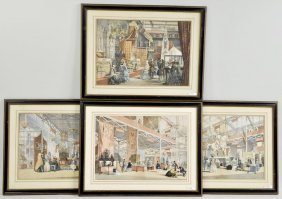 Four Great Exhibition Lithographs