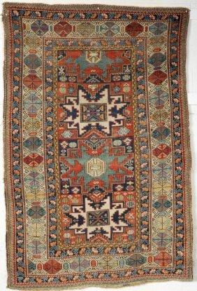 Caucasian Shirvan Rug, 19th C.