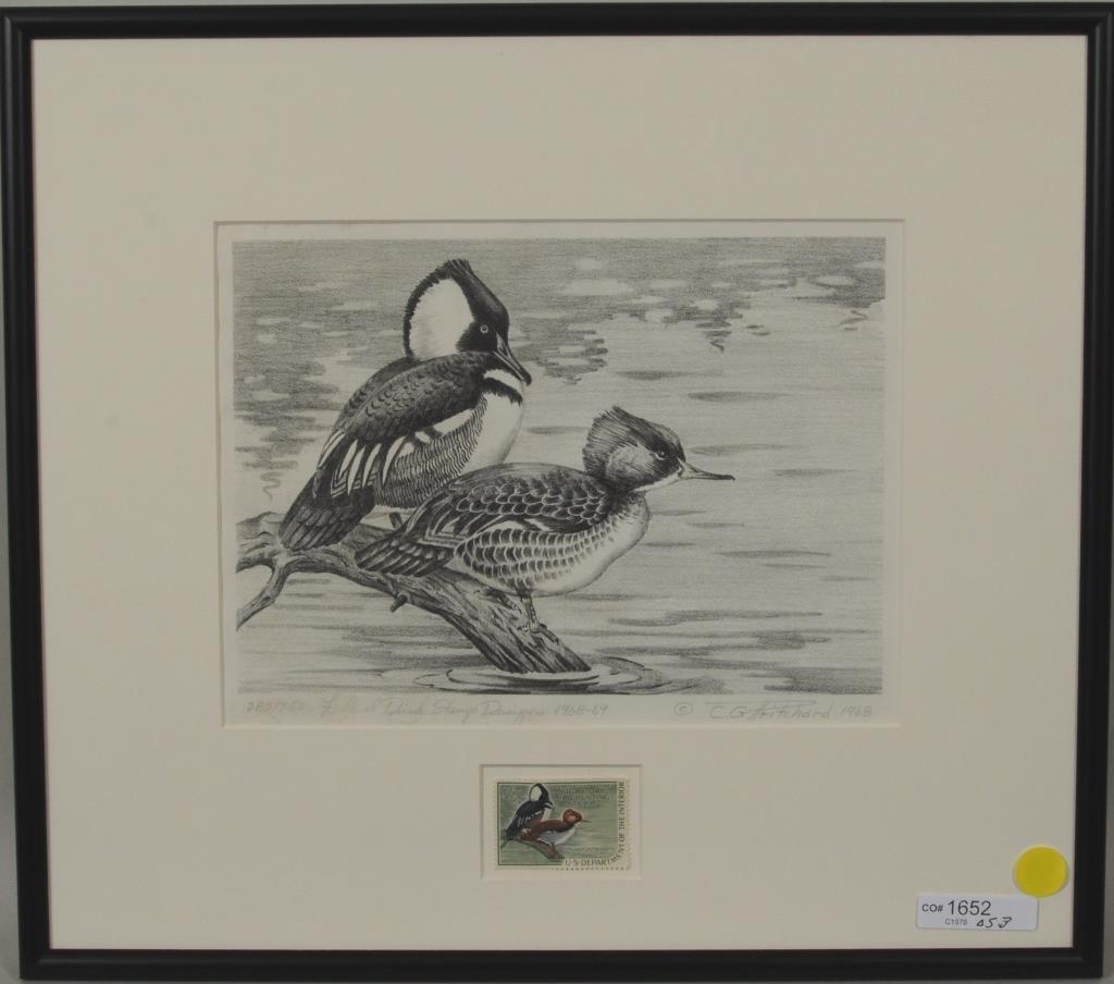 "C G Pritchard ""Federal Duck Stamp Design 1968-69"""