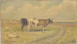American School Cows In Landscape OC