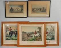 Five Framed Equestrian Prints