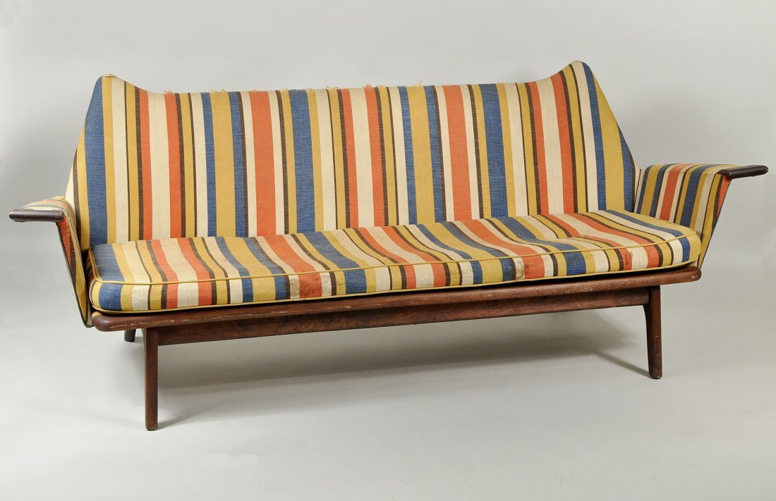 Swedish Mid Century Modern Walnut Sofa