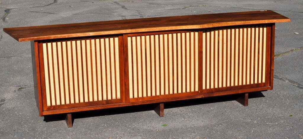 George Nakashima Figured Walnut Credenza