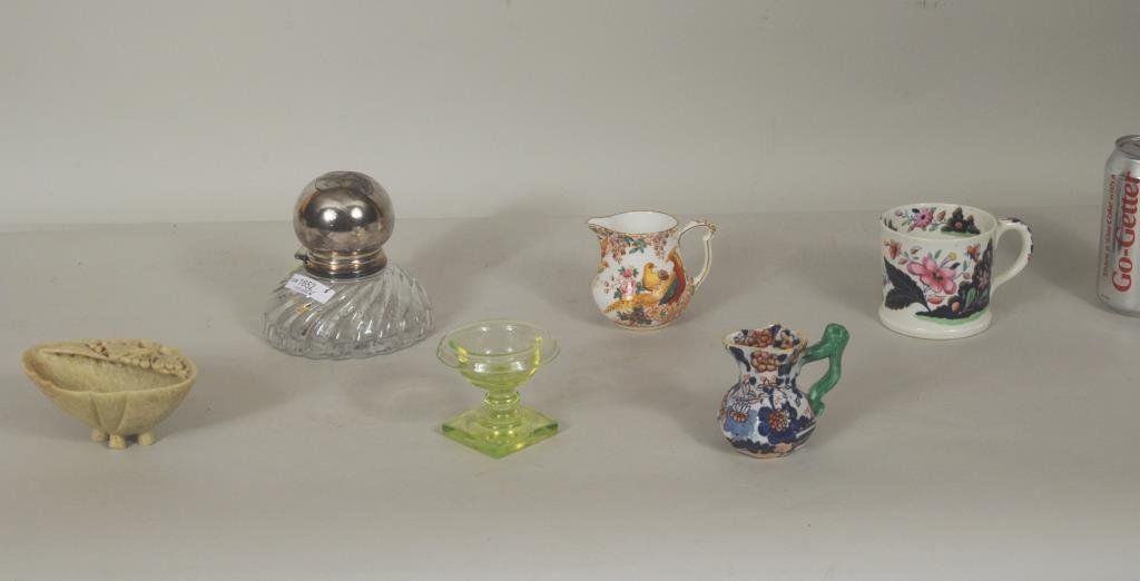 Group Glass And Porcelain Items