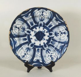 Early Large Dutch Delft Charger