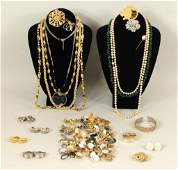 Large Group Costume Jewelry Various Makers