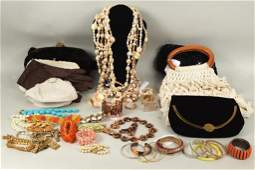 Large Group Costume Jewelry  Handbags