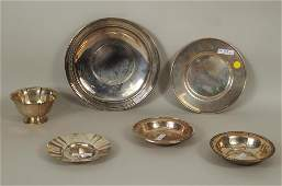 Group Six Sterling Silver Trays & Bowls