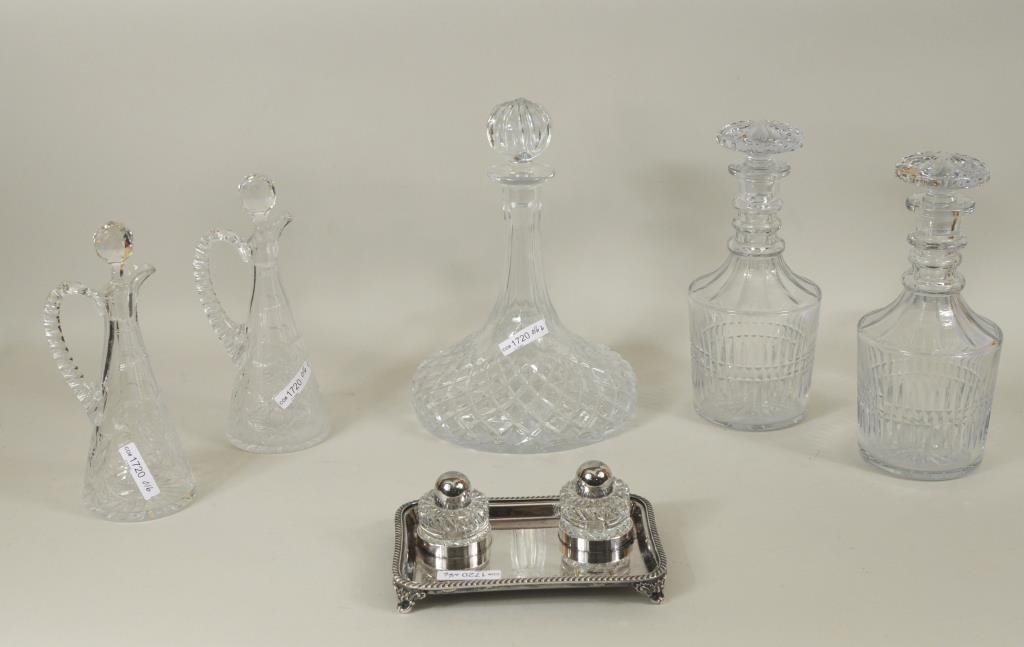 Group Cut and Pressed Glass