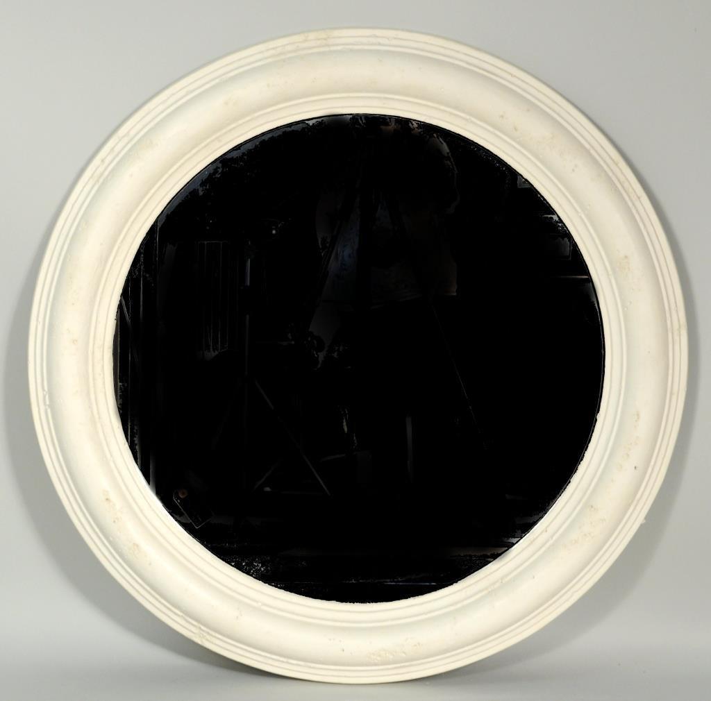 Kreiss Mid Century Round Plaster Mirror