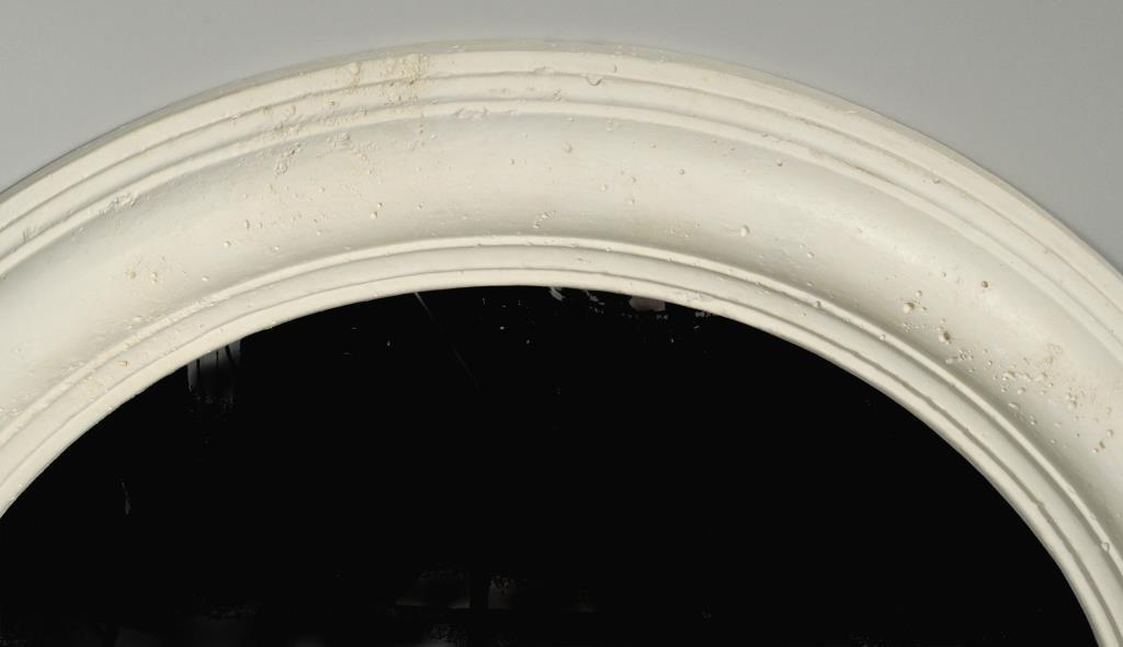 Kreiss Mid Century Round Plaster Mirror - 3
