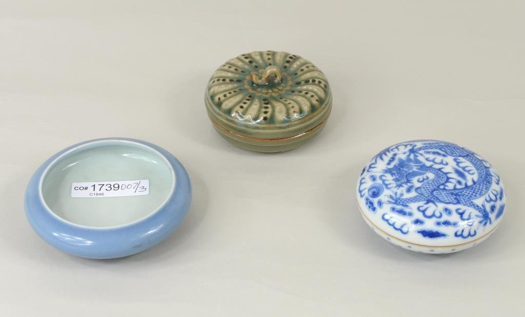 Three Small Chinese Porcelain Items