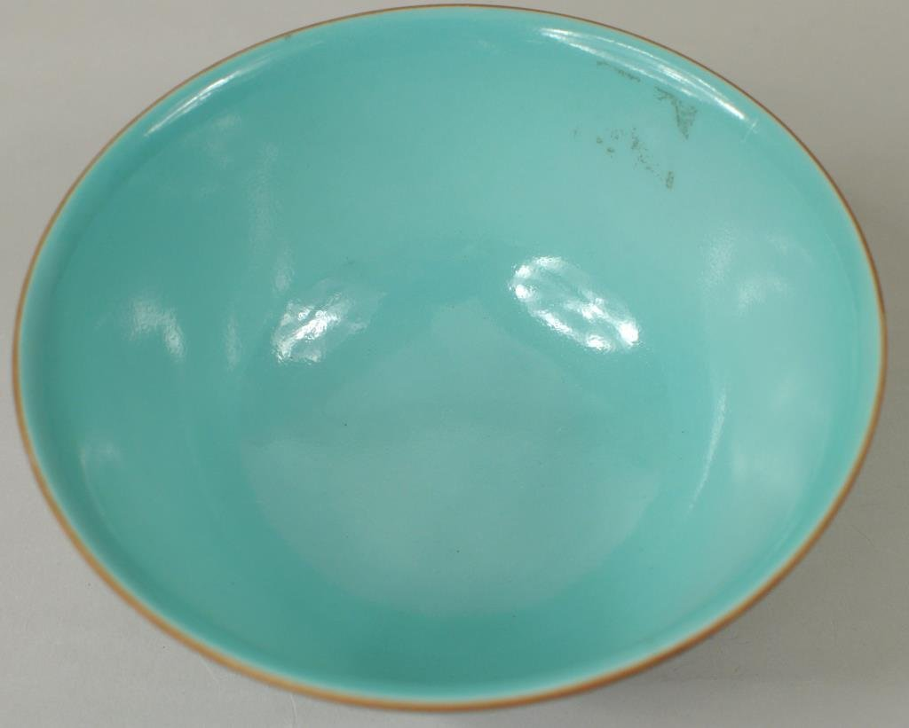 Chinese Porcelain Turquoise Glazed Bowl - 3