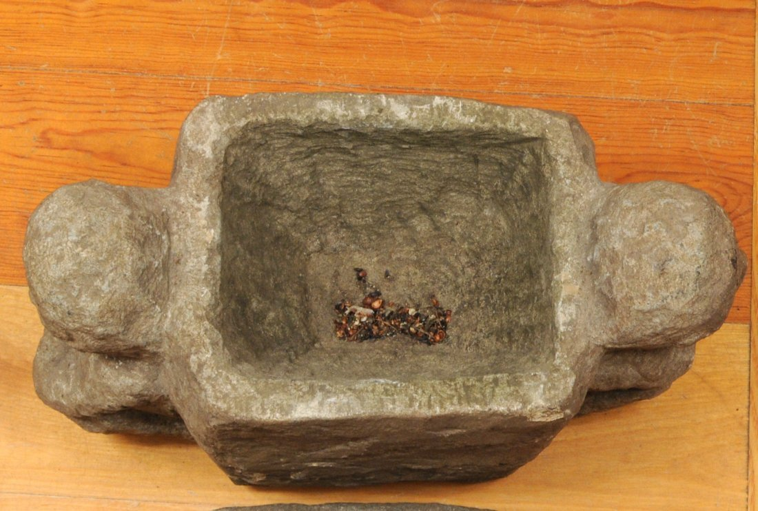 Philippine Ifugao Carved Stone Ritual Offering Box - 5