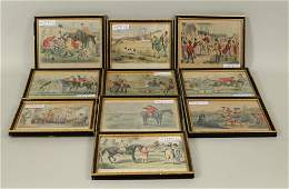 Group Ten Small Framed Equestrian Prints