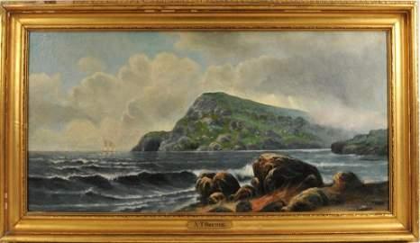 "Alfred Thompson Bricher ""Grand Manan Island"" O/C"