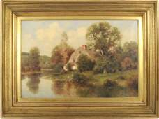 "Milton H. Lowell ""New England Landscape"" O/C"